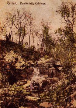 Парковый ручей. Открытка 1930-х годов.