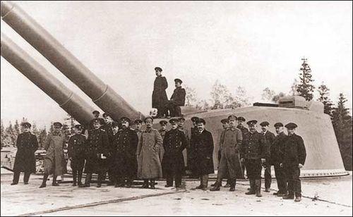 Береговая батарея на острове Аэгна. 1916 год.