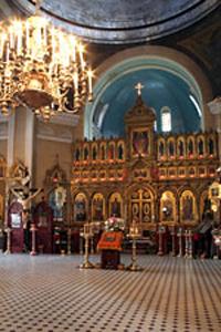 Иконостас Воскресенского собора в Нарве.
