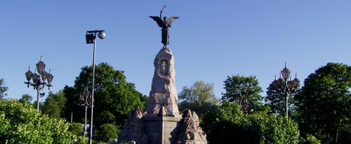 """Памятник броненосцу """"Русалка""""."""