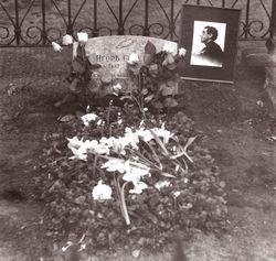 Могила Северянина. Фото 1987 года.